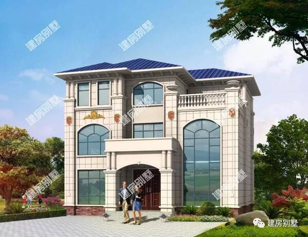 第三栋造型配上大大的落地窗,其他的别墅窗户也甚是a造型,13×11米.宁波别墅银亿图片