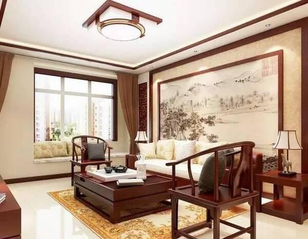 中式装修风格的客厅效果图欣赏