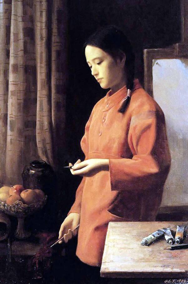 【精品油画】中国著名油画家区础坚人物油画作