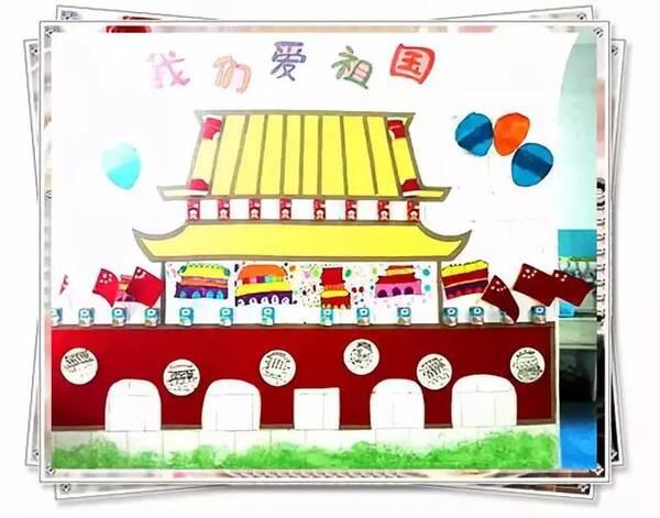 小小传承人:幼儿园国庆节主题墙设置,底部附8款主题活动方案图片