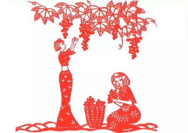 年俗与民间剪纸 中秋创意剪纸 节日味更浓 八月十五月正圆,西瓜月饼图片