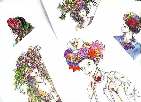 新娘头花手绘合辑第三期