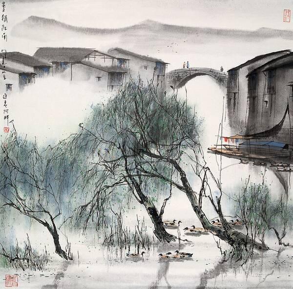 中国名家笔下的小桥流水图片
