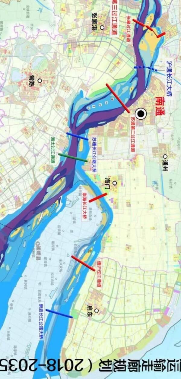 北沿江高铁南通(启东)—上海(崇明)线纳入规划!江苏省