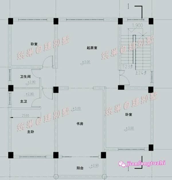 120平米农村三层接地气自建房设计图效果图