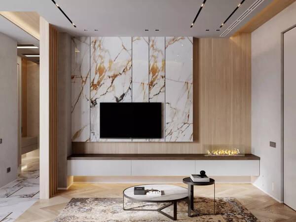 异型设计 背景墙 异形背景墙极具个性,让每一个进入客厅的人首先感受到了主人的性格和爱好。不规则的线条、内陷或往外突出的造型、使用明艳的颜色都能从视觉上体现设计感,用来装饰电视墙壁的一种艺术体现,让其既不单调,又不庸俗。