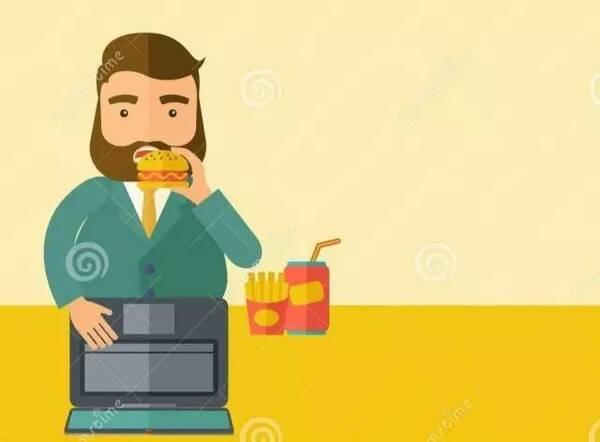 人长时间坐着不动,很容易催生肥胖和大肚腩.图片