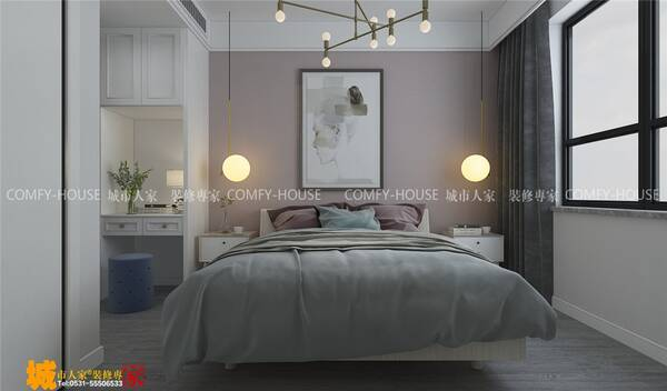 中新锦绣天地北欧风格装修效果图,对家的向往图片
