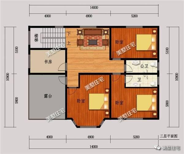 150多平的农村3层别墅,三室一厅两卫,简欧风格才是最爱
