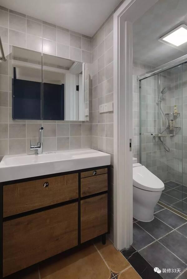 卫生间干湿分离,提高使用效率 设计 | 南舍设计(南京) 微信:lily