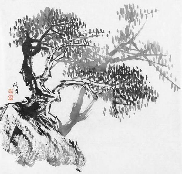 国画 简笔画 手绘 线稿 600_573图片