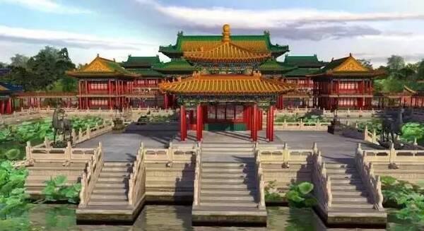复原后的圆明园 金碧辉煌的宫殿