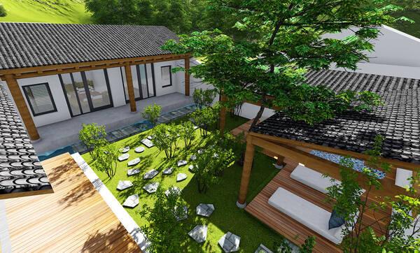 北京业主34万建全村第一豪宅,新中式小院泡池菜地让图片