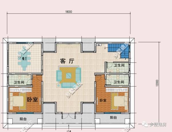 17平方米 结构类型:框架结构 建筑层数:3层 效果图: 一层设有客厅