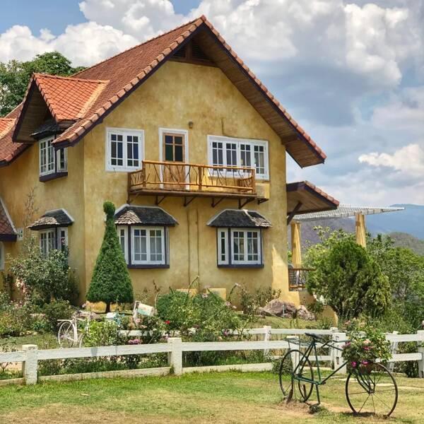 欧式房子图片占地小