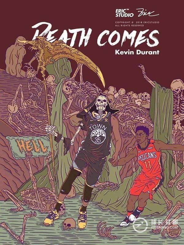 NBA权杖漫画集锦:詹姆斯手握球星,杜兰特死神耽美漫画临也图片