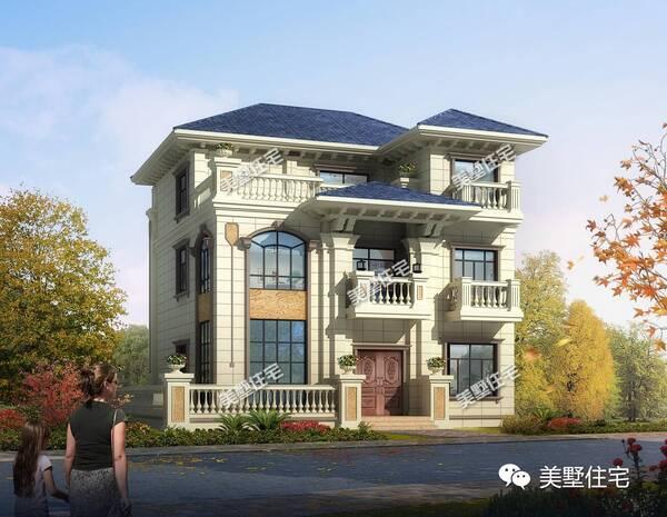 建筑风格:欧式风格 别墅俯视图: 这款别墅从外观上可以看出十分的豪华