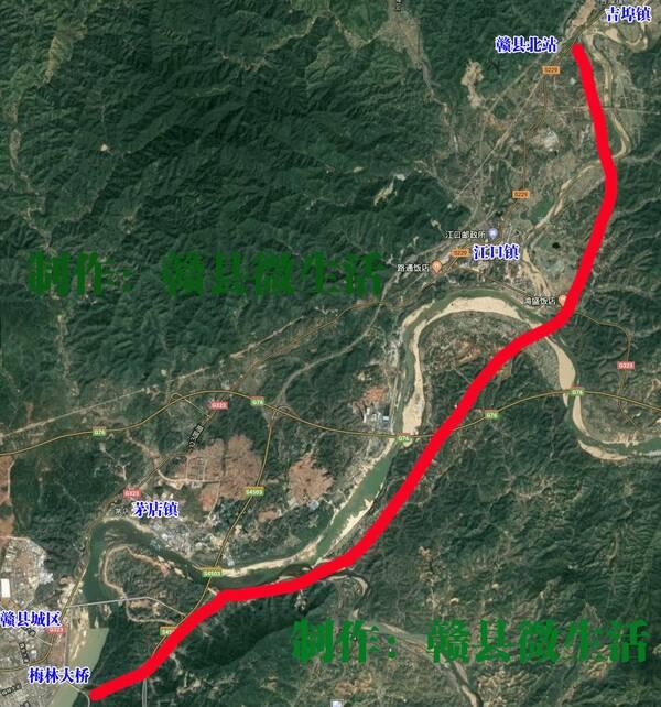 g238赣县吉埠至江口段公路改建工程公示说明