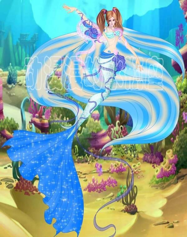 叶罗丽:当公主参加水王子的人鱼舞会,莫纱很优雅,王默图片