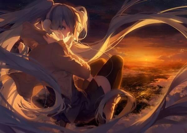 卡通水彩画:梦幻的长发美少女,她的心情让人捉摸不透.