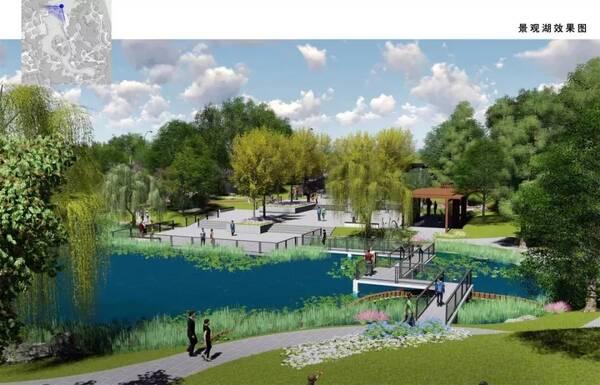 打造特色绿化景观; 新建,完善园林建筑小品,包括新建门卫,厕所,廊架