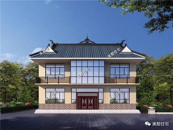 中式小院别墅:带小院是我们建房以来一直的夙愿!图片
