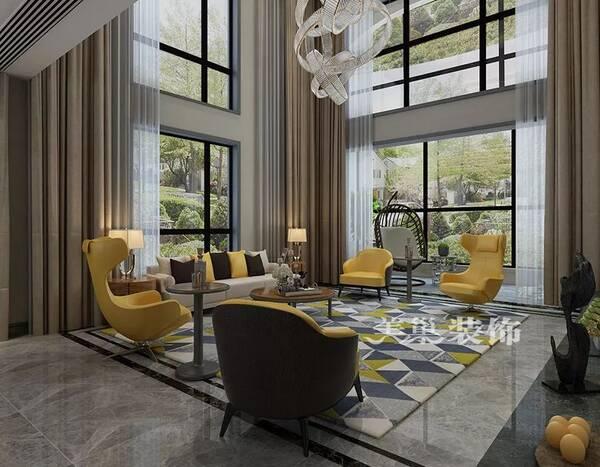洋房电视背景墙 现代客厅沙发布局 直接点击即可查看 正商金域世家