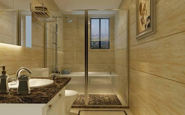 卫浴干湿分离效果图,空间格局合理