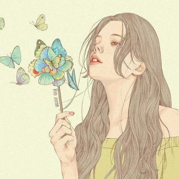 原标题:迷人的手绘线条,越看越惊艳 你是否有被这些美丽动人的少女