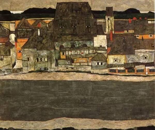 【难得一见】席勒的风景油画