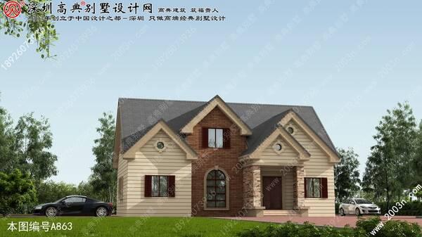 别墅区效果图首层146平方米别墅设计图纸