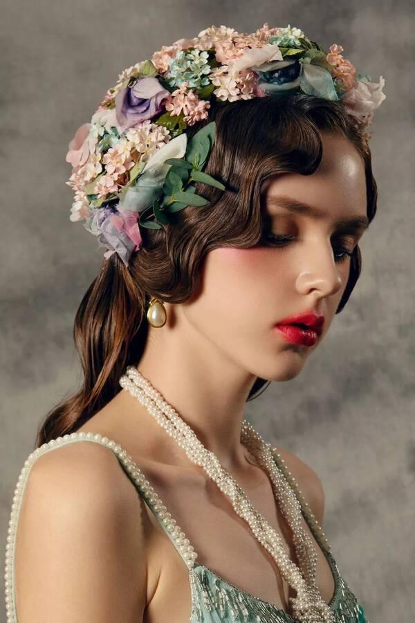 化妆造型丨日轻复古欧式妆面,温婉系新娘造型