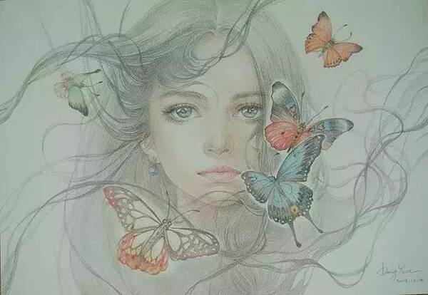 这些彩铅插画带着仙气,每一幅都这么迷人,谁不喜欢呀!