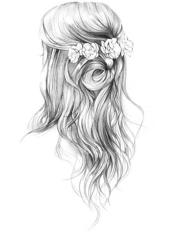 绘画干货 | 超好看的头发素描画法教程,临摹练习