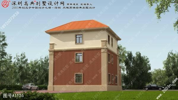 农村房子设计图首层125平方米别墅设计图纸