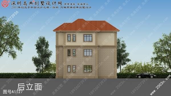 农村民房设计图首层137平方米别墅设计图纸