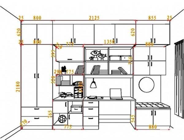 家具设计图手绘组合