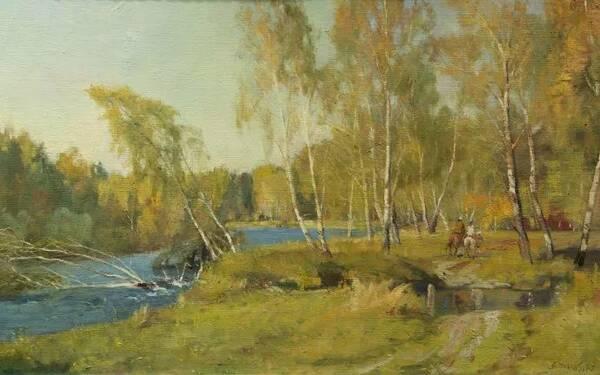 中国画家杨鸣山油画风景作品欣赏