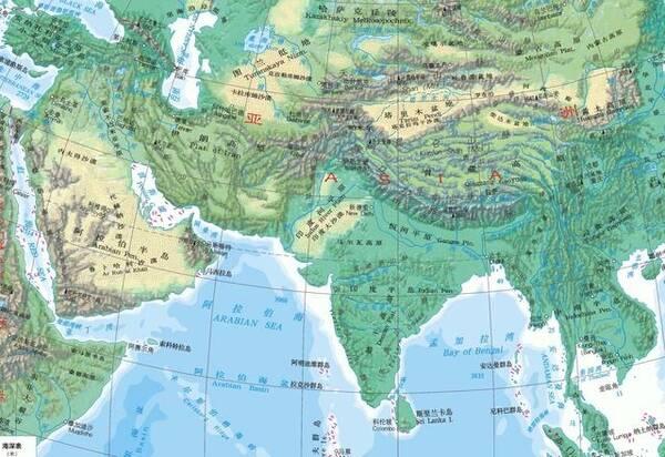 世界上面积最大的三大半岛:阿拉伯半岛,印度半岛和中南半岛