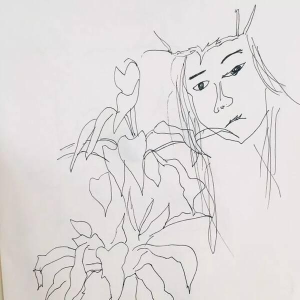 虞姬图片手绘动漫