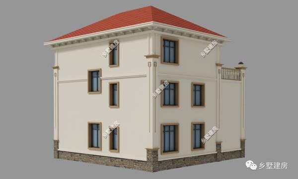 欧式房屋外观 落地窗
