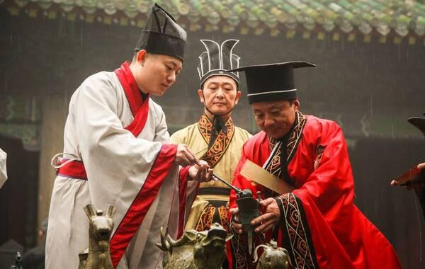 12月21日冬至日,是亚圣孟子逝世2305周年纪念日。孟子故里山东省邹城市冬雨绵绵、凄凄飘零。(摄影 亚辉)