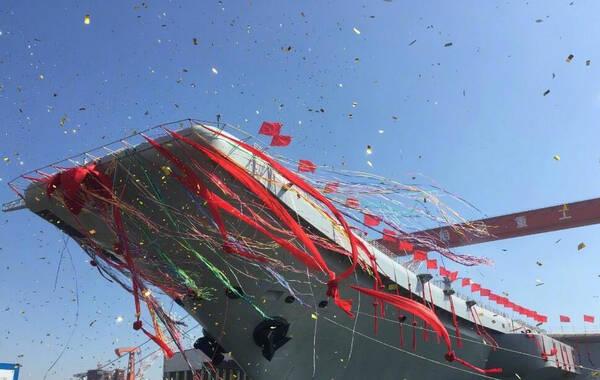 """国防部回应网友给第二艘航母取名""""皮皮虾"""" (图)"""