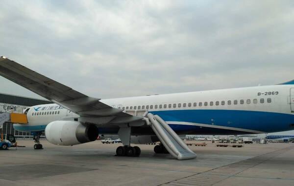 厦门航空一架757在北京首都