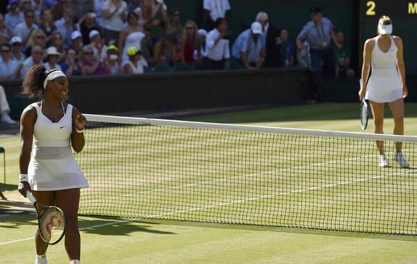 北京时间7月9日,2015年温网公开赛进入正赛第十个比赛日的角逐,女子单打结束半决赛的较量,头号种子小威廉姆斯直落两盘,6-2/6-4轻取4号种子莎拉波娃,时隔3年再次进入决赛。全场比赛仅耗时78分钟,这也是小威对莎娃的17连胜。