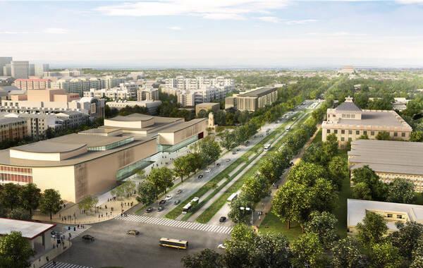 演艺区局部艺术中心鸟瞰(从东南侧)