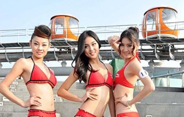 平台进行一场世界最高的模特比赛——广州塔云端赛