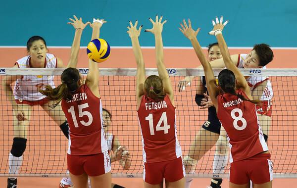 月24日,2014世界女排大奖赛总决赛,中国2-3俄罗斯