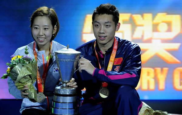 2015年5月1日,2015年第53届单项世乒赛混双决赛,许昕/梁夏银4-0胜吉村真晴/石川佳纯。