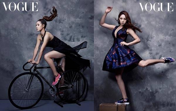 图为申秀智为《Vogue》拍摄的大片。
